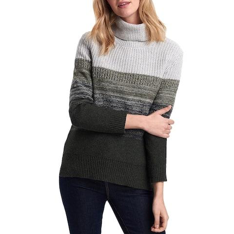 Barbour Womens Sweater Wool Blend Turtle Neck - Wilderness Green