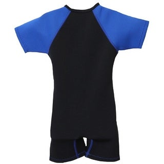 NeoSport Wetsuits 2mm Kid's Front Zip Shorty - Black/Blue