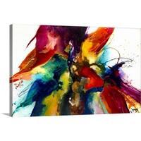 Jonas Gerard Premium Thick-Wrap Canvas entitled Flourish III - Multi-color