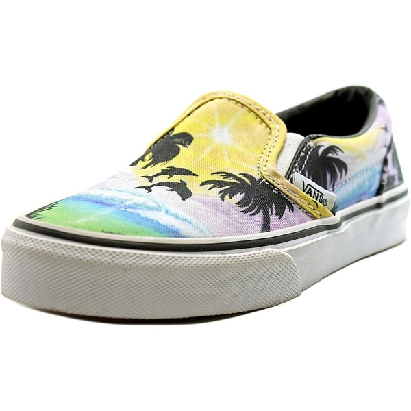 4966a645770265 Shop Vans Classic Slip-On Youth Round Toe Canvas Multi Color Skate ...