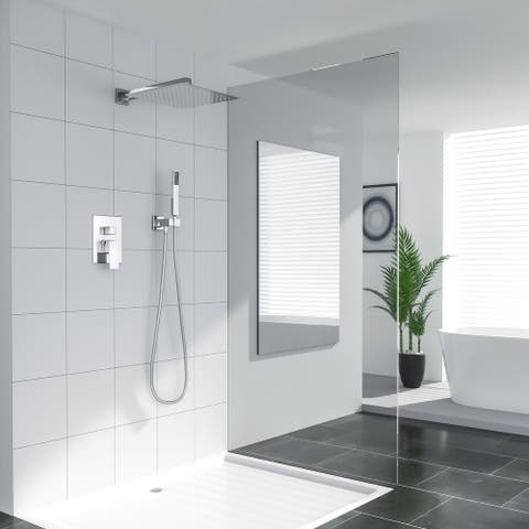 Shower System - Rain Shower head and Handheld Head, Bathroom Shower Faucet Set Trim Kit with Valve Combo