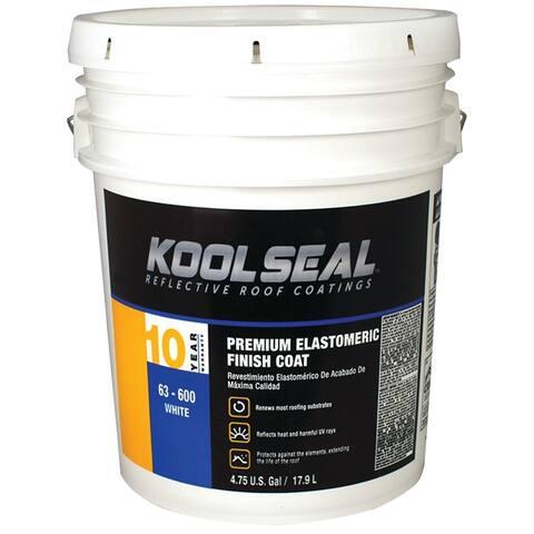 Kool Seal KS0063600-20 Premium White Elastomeric Roof Coating, 4.75 Gallon