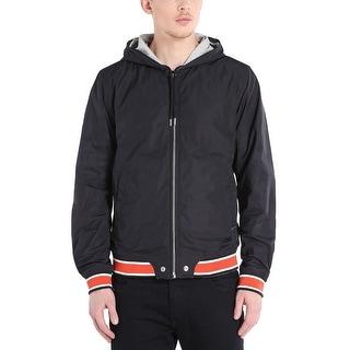 Diesel Hellad 00SGDQ Reversible Hoodie Windbreaker Jacket Black XX-Large