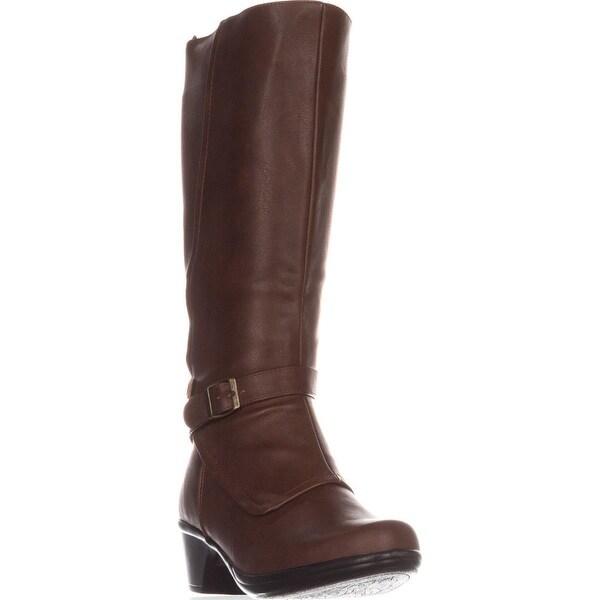 Easy Street Jan Wide Calf Knee-High Boots, Tan