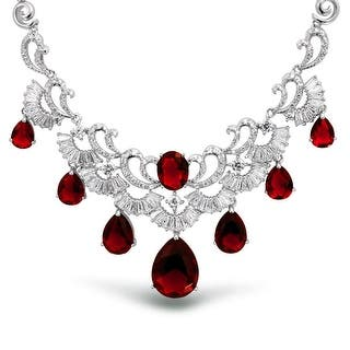 Bling Jewelry Red Teardrop Clear CZ Bridal Necklace Rhodium Plated|https://ak1.ostkcdn.com/images/products/is/images/direct/f0c1612187e9efe6f51a85a3168dbb2ece90544a/Bling-Jewelry-Simulated-Red-Ruby-Teardrop-Clear-CZ-Bridal-Necklace-Rhodium-Plated.jpg?impolicy=medium