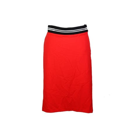 Vince Camuto Red Colorblocked Pencil Skirt XS