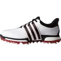 Adidas Men s Tour 360 Boost White Black Power Red Golf Shoes F33248   F33260 21661e16e