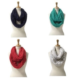"Fashion Lightweight Scarves 4pc.Pack - 35"" x 35"""