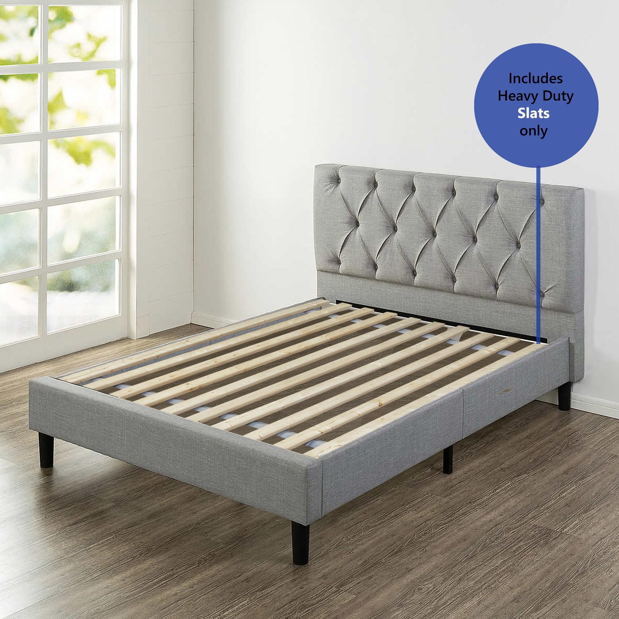 Twin Black Mattress Solution Heavy Duty Wooden Bed Slats//Bunkie Board Frame
