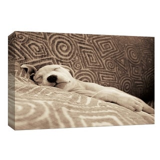 """PTM Images 9-154030  PTM Canvas Collection 8"""" x 10"""" - """"Dog Tired"""" Giclee Dogs Art Print on Canvas"""