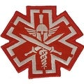 MEDIC PIRATE SKULL RED TACTICAL Embroidered Iron On Patch P89 - Thumbnail 0
