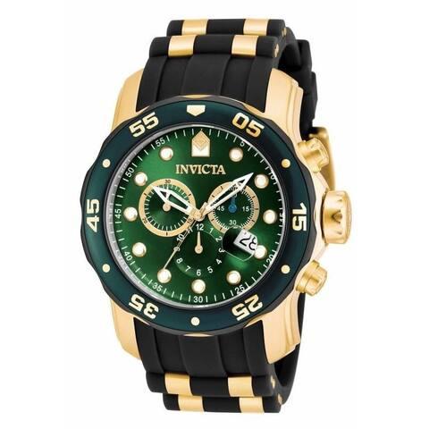 Invicta Men's 17883 'Pro Diver' Scuba Multi-Function Black and Gold-Tone Polyurethane Watch