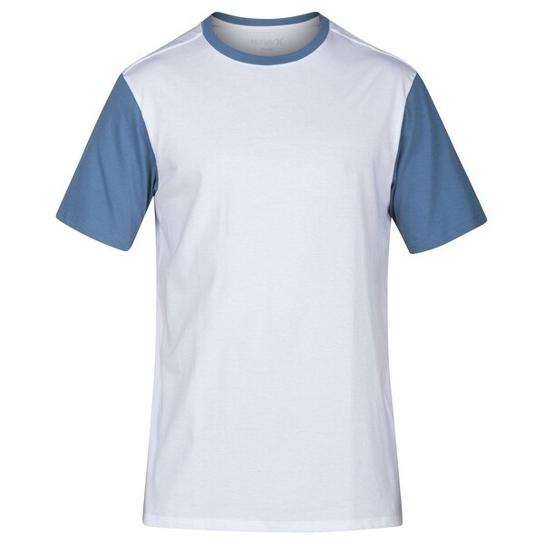 53b509d5cf7 Shop Hurley White Blue Men Large L Colorblock Crewneck Premium Tee T-Shirt  - Free Shipping On Orders Over  45 - Overstock.com - 22117100
