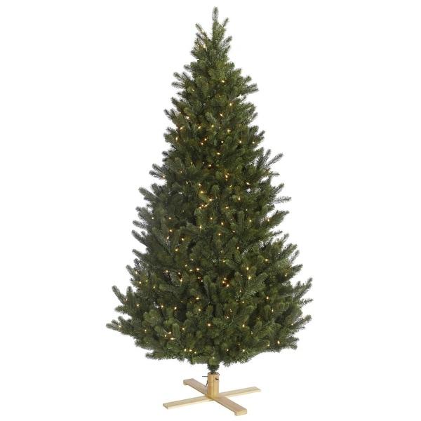 6' Pre-Lit Redwood Fir Slim Artificial Christmas Tree - Clear Lights