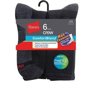 Hanes Men's ComfortBlend Max Cushion Crew Sock 6-Pack