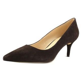 Nine West Margot Women Pointed Toe Suede Brown Heels