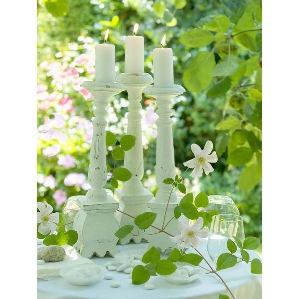 "LED Lighted Pillar Candles in Garden Canvas Wall Art 15.75"" x 11.75"""
