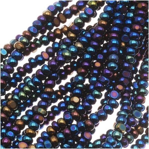 Czech Charlotte Seed Beads 13/0 Blue Iris 1/2 Hank