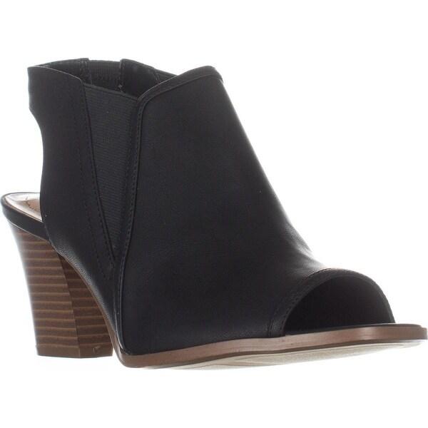 SC35 Daniilo Peep-Toe Heels, Black