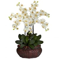 Nearly Natural 1201-CR Large Phalaenopsis Silk Flower Arrangement