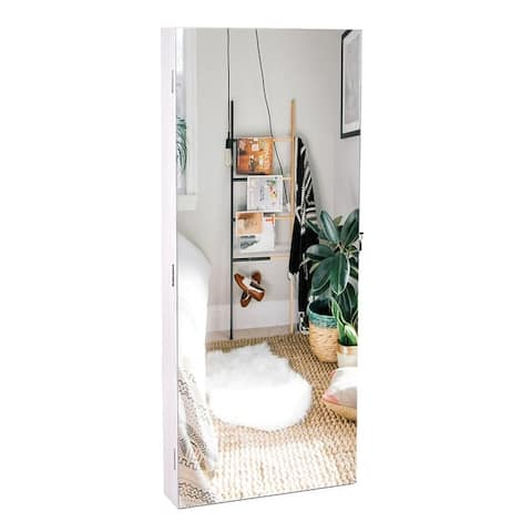 """35"""" PVC Wall Hanging Door Jewelry Cabinet Fitting Mirror Cabinet"""