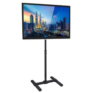 Mount-It! Mobile TV Floor Stand for Flat Panel and Flatscreen