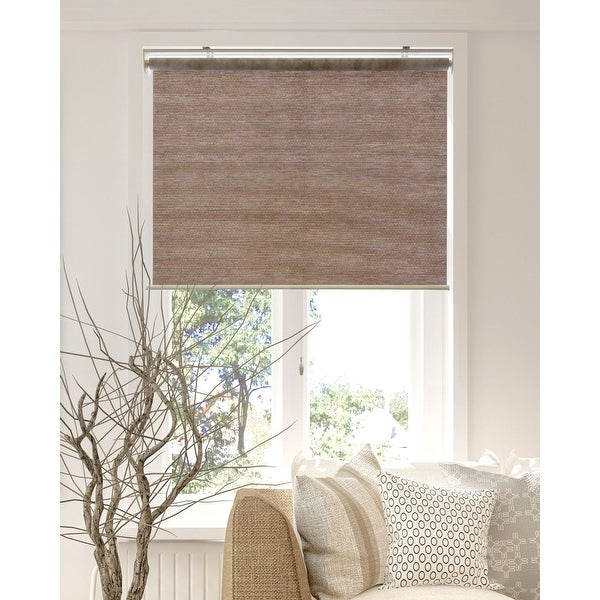 CHICOLOGY Privacy & Natural Woven Snap-N'-Glide Cordless Roller Shades. Opens flyout.