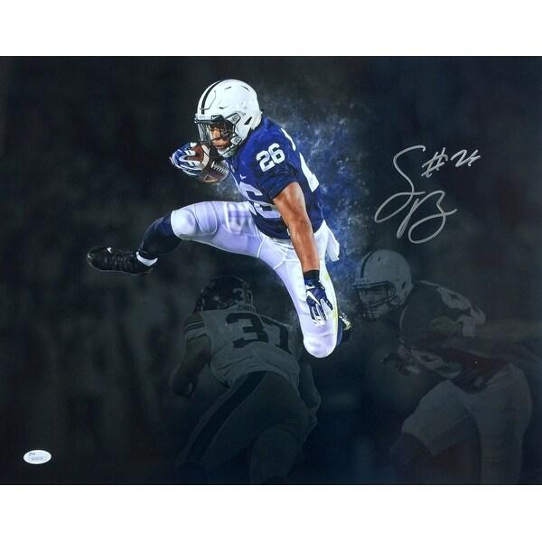 685df40225c Saquon Barkley Signed 16x20 Penn State Spotlight Photo JSA Signature Debut