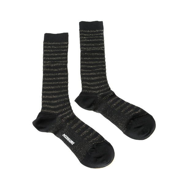 Missoni GM00CMD5228 0007 Black/Gray Knee Length Socks