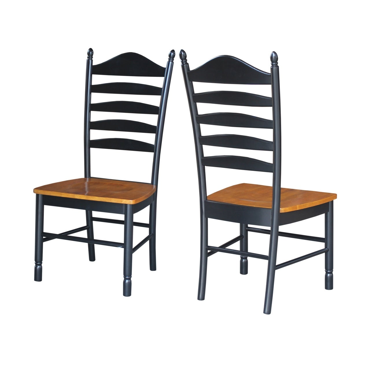 Solid Wood Tall Ladderback Chairs Set Of 2 Overstock 20000622