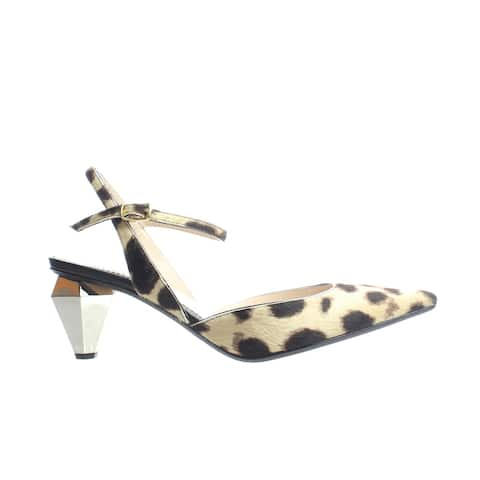 Marc Jacobs Womens The Slingback. Camel Multi Ankle Strap Heels Size 5.5