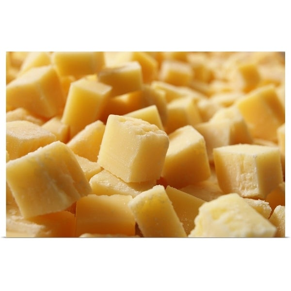 """""""Parmigiano Reggiano Cheese Cut in Cubes"""" Poster Print"""