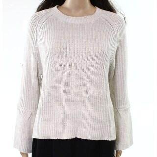John + Jenn Ivory Womens Size Small S Shimmer Scoop Neck Sweater