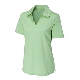 Cutter & Buck Womens Sea Green XSmall Drytec Medina Stripes Short Sleeve Polo