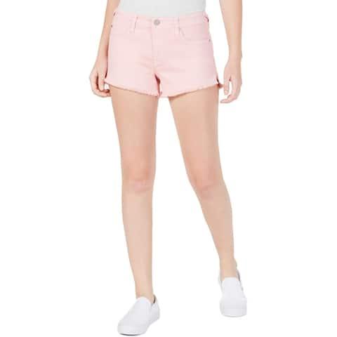 Celebrity Pink Womens Juniors Cutoff Shorts Denim Raw-Hem - 7