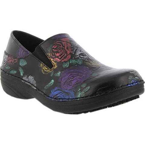 1c18489b8 Spring Step Women s Manila Black Roses Leather