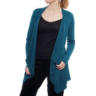 Magaschoni Long Sleeve Open Neck Cardigan Women Regular Sweater