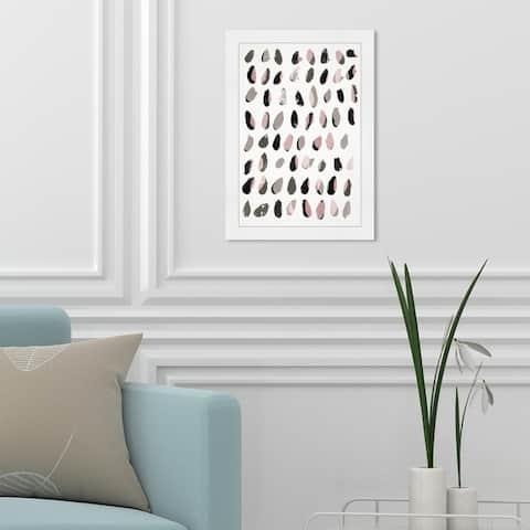 Oliver Gal 'Marismas Modern Desert' Abstract Framed Wall Art Prints Watercolor - Pink, Gray