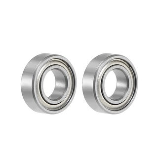 "R166ZZ Deep Groove Ball Bearing 3/16""x3/8""x1/8"" Shielded GCr15 Bearings 2pcs - 2 Pack - R166ZZ (3/16""x3/8""x1/8"")"