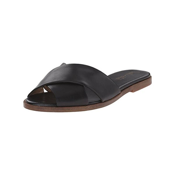 Splendid Womens Baron Flat Sandals Leather Open Toe