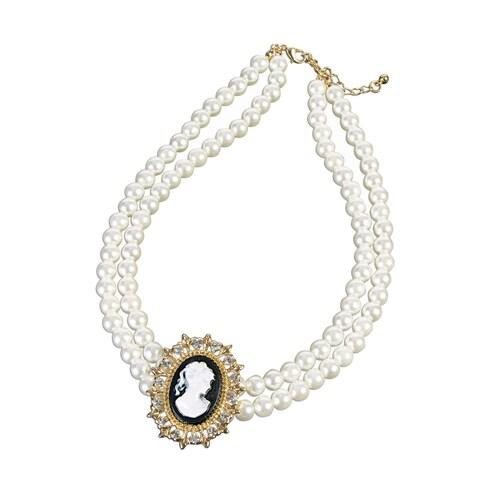 Forum Novelties Vintage Cameo Necklace - ivory