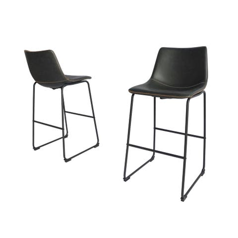 Best Quality Furniture Modern 29-inch Faux Leather Bar Stool (Set of 2)