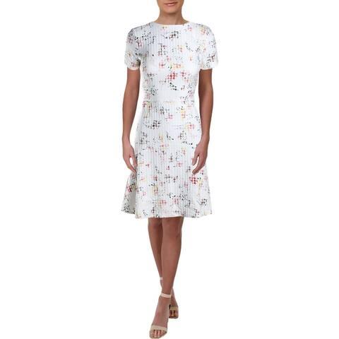 Lauren Ralph Lauren Womens Baba Janesville Wear to Work Dress Jacquard Floral - Cashew/Pink