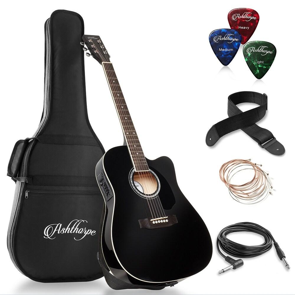 Kuke Novice Entry Level 170 Electric Guitar HSH Pickup with Bag Strap Paddle Rocker Sunset Color