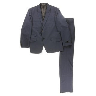 Tommy Hilfiger Mens Sawyer Two-Button Suit Wool Tailored Fit - 42r