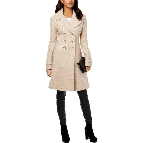 Ivanka Trump Womens Midi Coat Boucle Double-Breasted