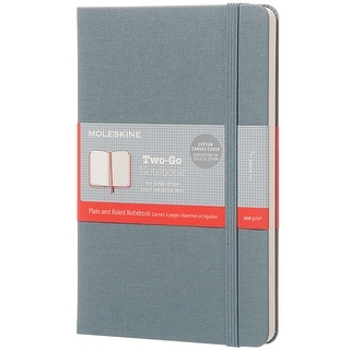 Moleskine Two-Go Ruled Notebook-Oriental Blue