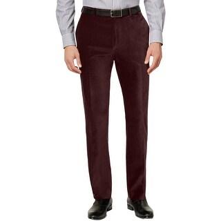 Calvin Klein Mens Dress Pants Velvet Slim Fit