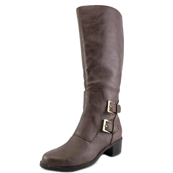 Aerosoles Ever After Women Round Toe Synthetic Brown Knee High Boot
