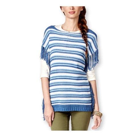 American Living Womens Striped Boat-Neck Pullover Sweater